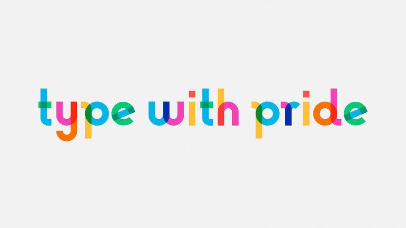 Descubre la tipografía inspirada en la bandera arcoíris de Gilbert Baker 5