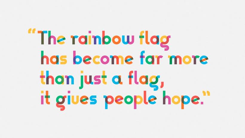 Descubre la tipografía inspirada en la bandera arcoíris de Gilbert Baker 9