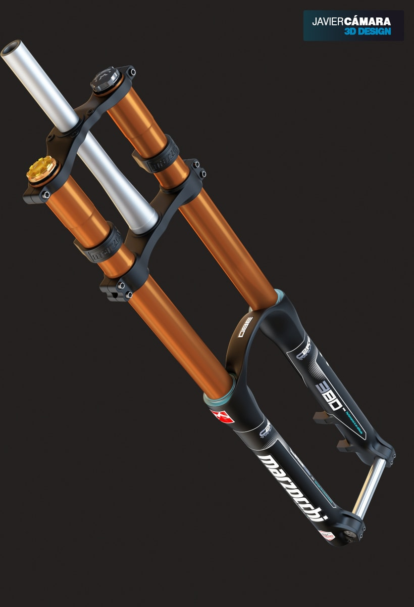 3D Modeling - Downhill Fork Marzocchi 380 -1