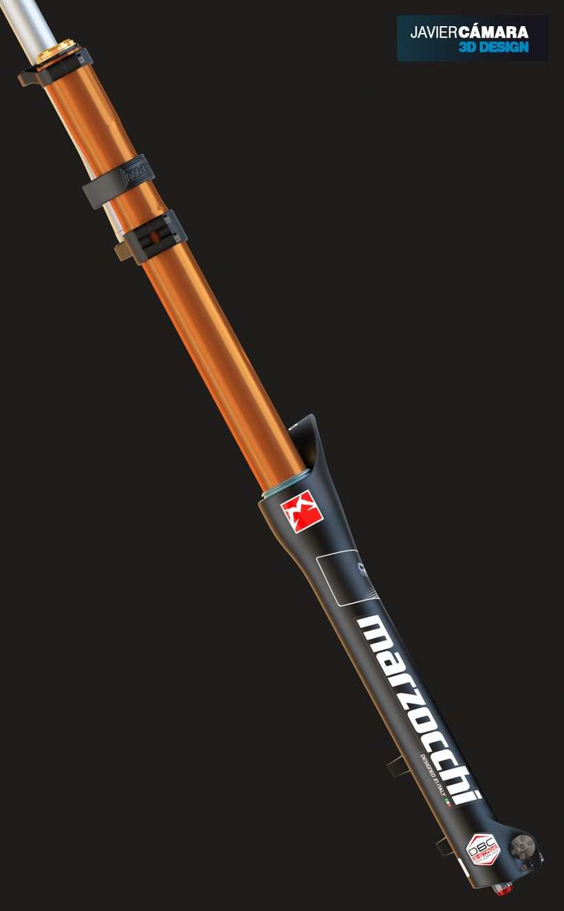 3D Modeling - Downhill Fork Marzocchi 380 1