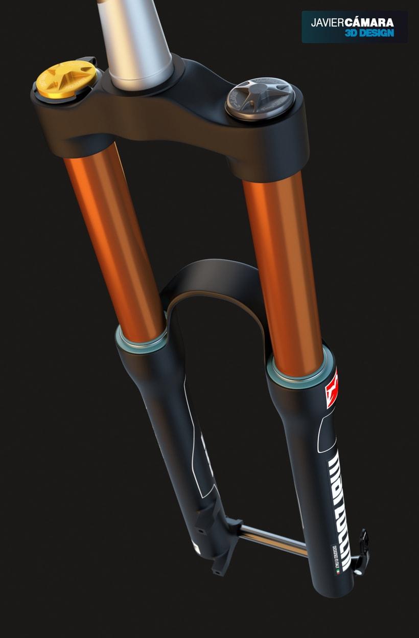 3D Modeling - Enduro Fork Marzocchi 350 1