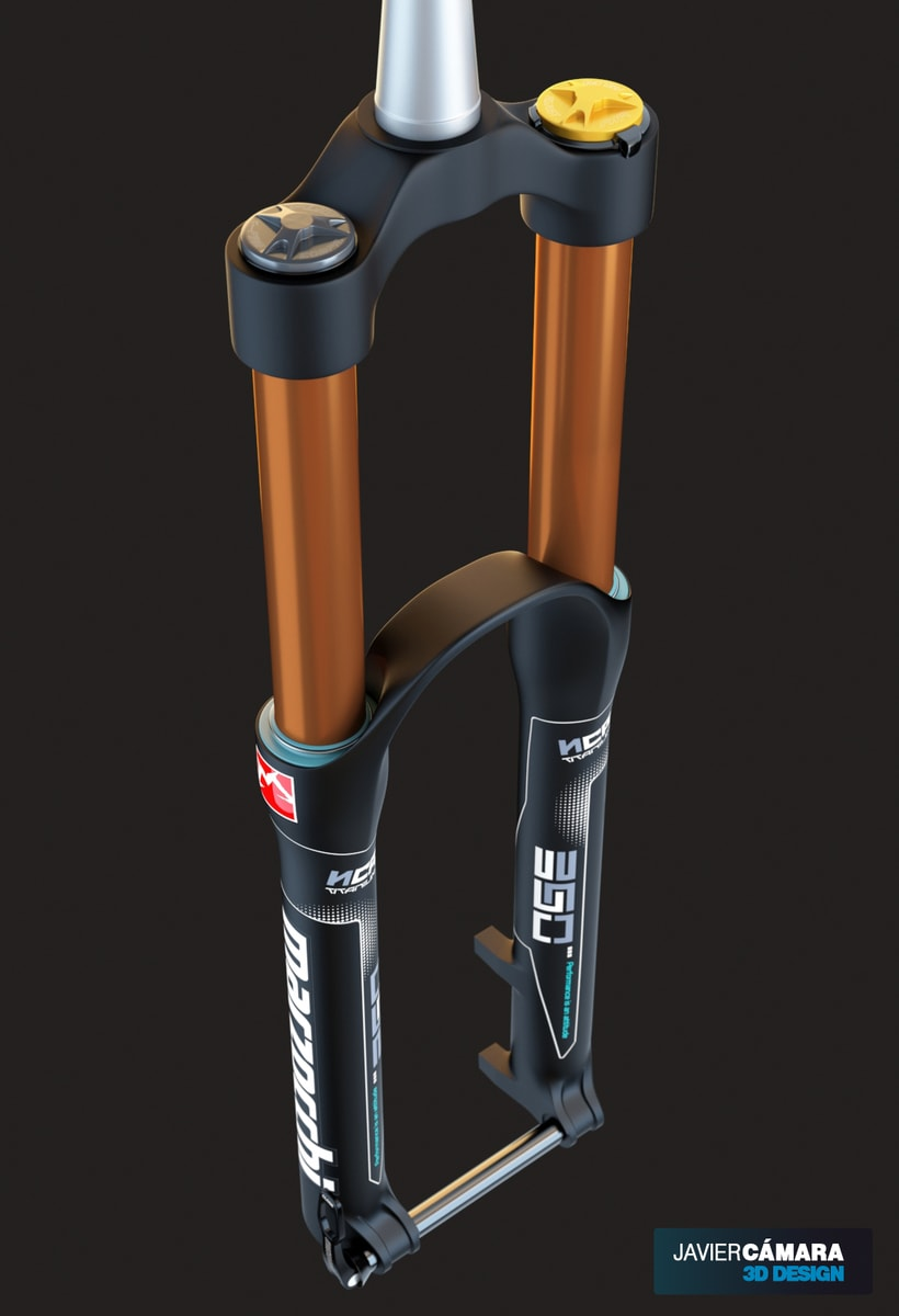 3D Modeling - Enduro Fork Marzocchi 350 0