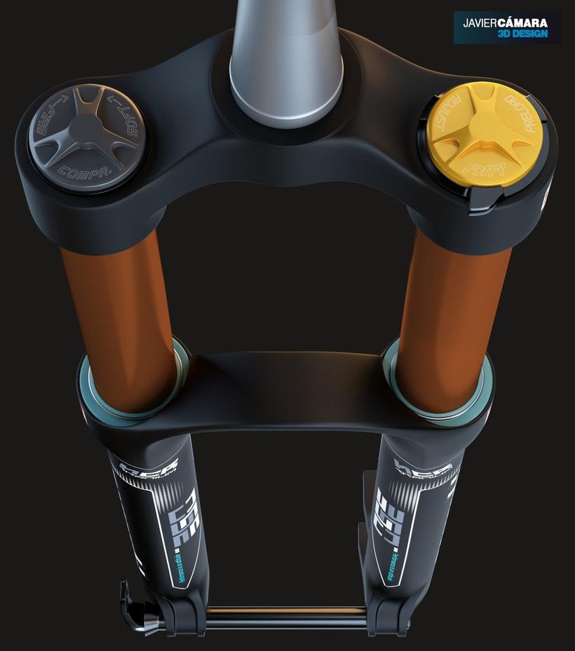 3D Modeling - Enduro Fork Marzocchi 350 2