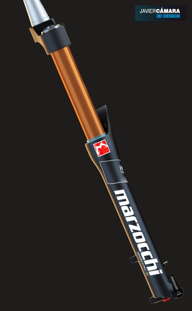 3D Modeling - Enduro Fork Marzocchi 350 3