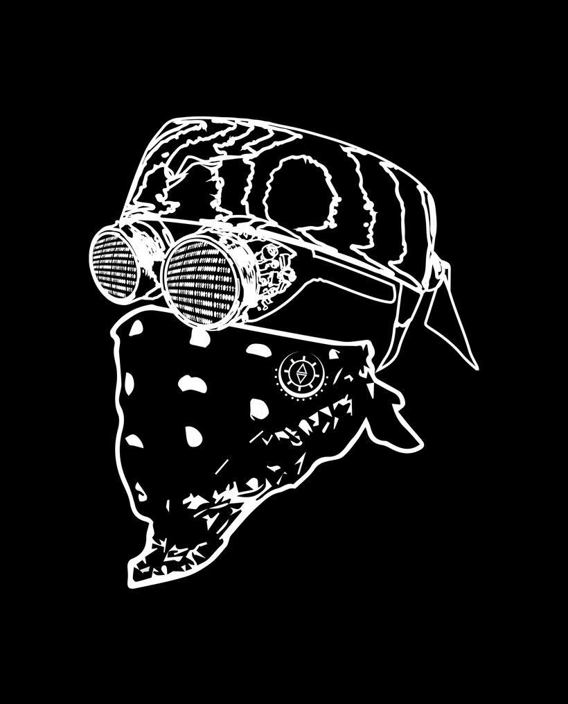 Diseño Máscara CyberPunk 2