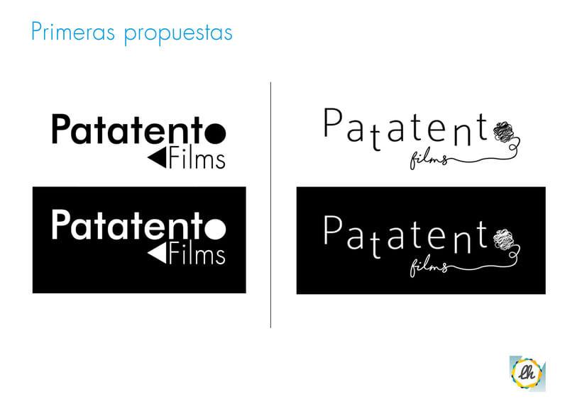 Identidad corporativa para Patatento Films 2
