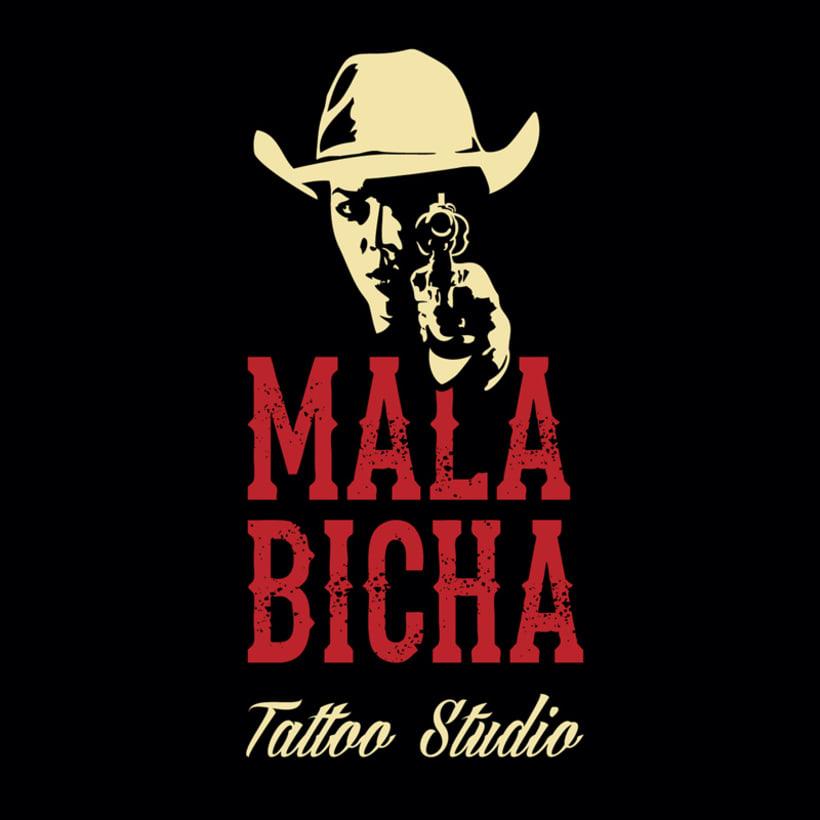 "Branding: ""MALA BICHA Tattoo Studio""_ Dogo Impulsive Design 0"