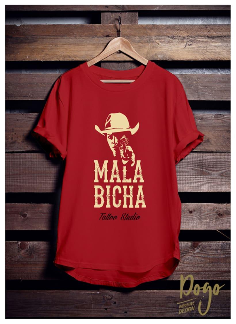 "Branding: ""MALA BICHA Tattoo Studio""_ Dogo Impulsive Design 1"