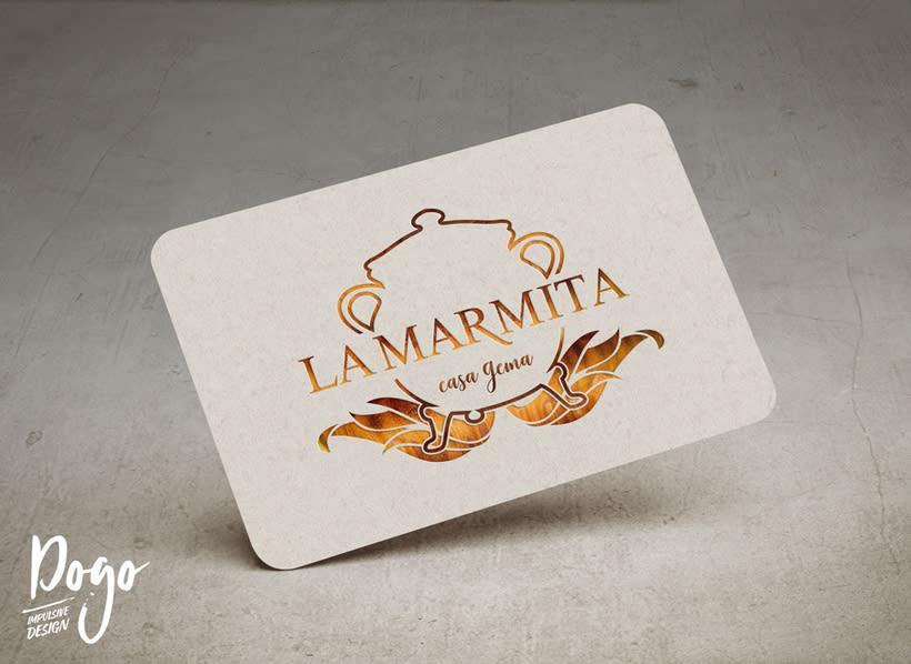"Branding: ""LA MARMITA, casa Gema""_ Dogo Impulsive Design 1"