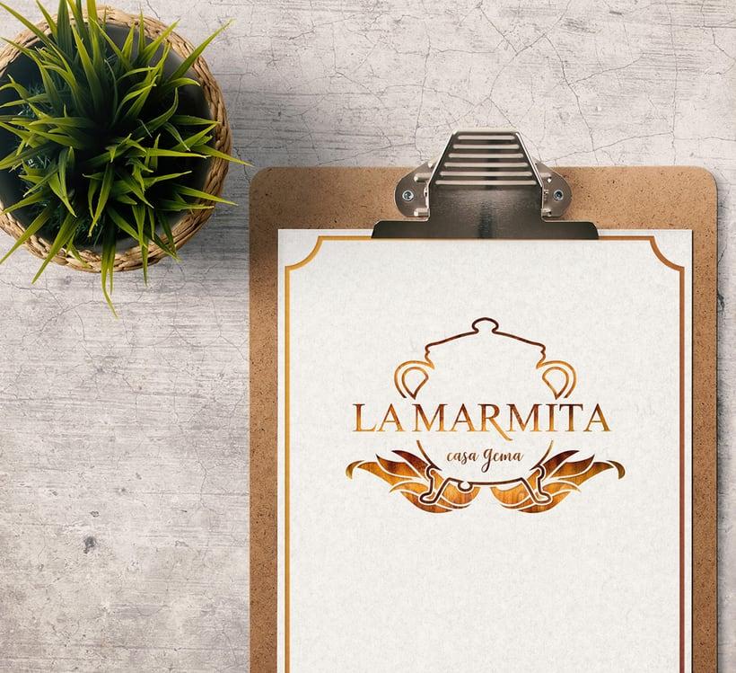 "Branding: ""LA MARMITA, casa Gema""_ Dogo Impulsive Design 2"