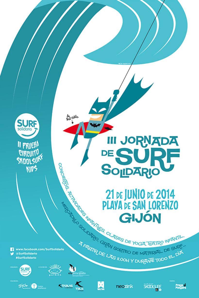 Roller e hijo. Surf solidario 2014 -1