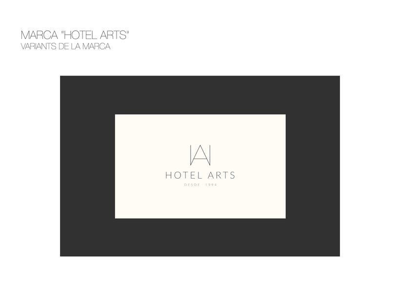 PACKAGING / AMENITIES HOTEL ARTS 3