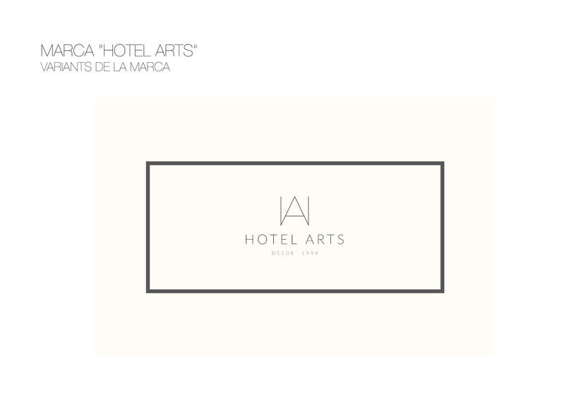 PACKAGING / AMENITIES HOTEL ARTS 5