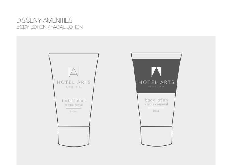 PACKAGING / AMENITIES HOTEL ARTS 7