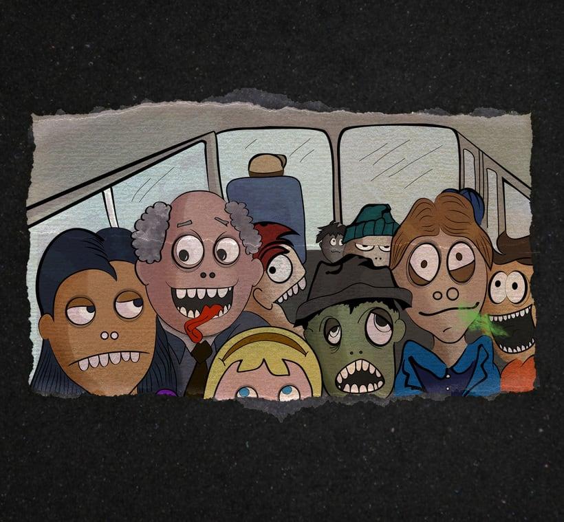 Al trabajo en Bus 0
