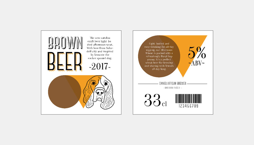 Brown beer corporate image 2