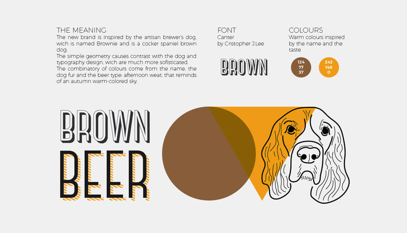 Brown beer corporate image 1
