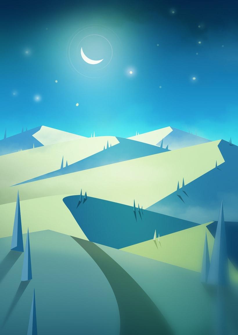 Good night! Digital illustration  -1