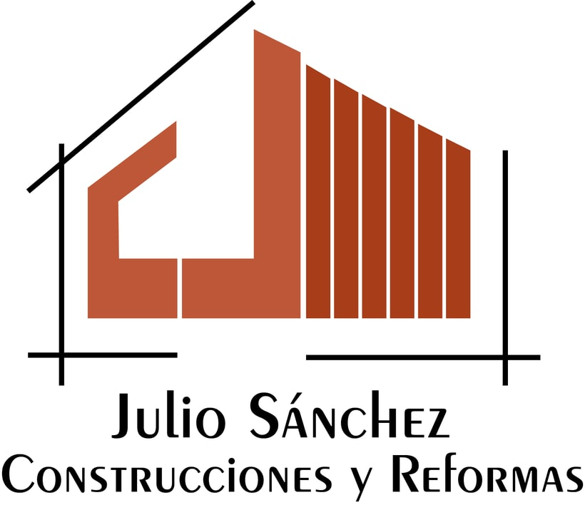 Logotipo empresa de construcción Julio Sánchez 1