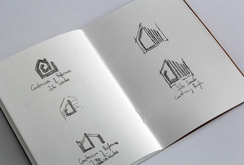 Logotipo empresa de construcción Julio Sánchez 0