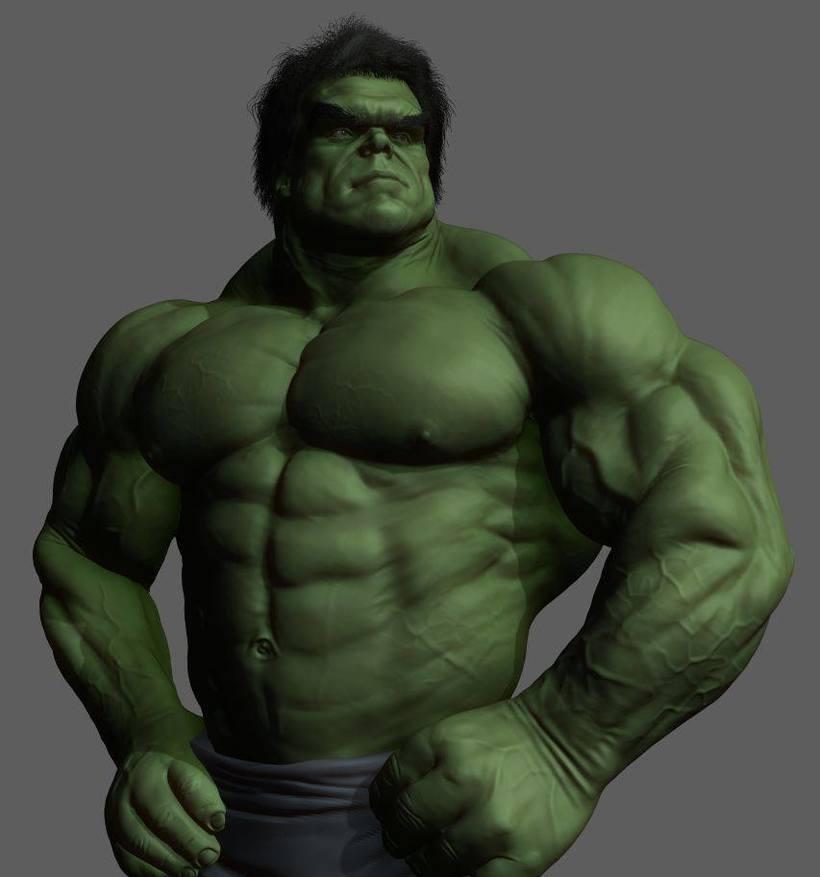 Versión Hulk,modelado en zbrush 0