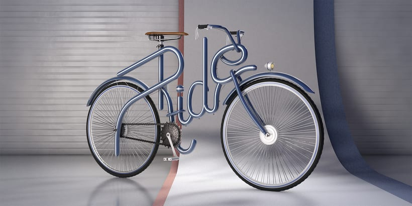 Cinema 4D Bike Lettering -1
