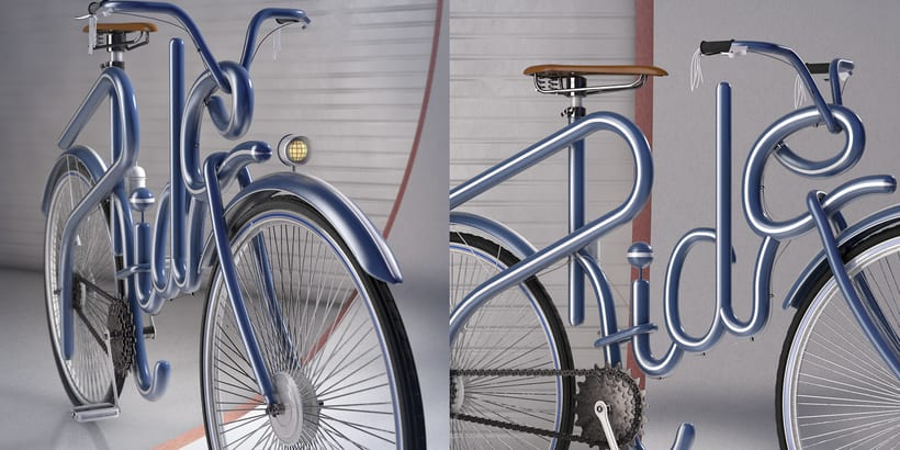 Cinema 4D Bike Lettering 0