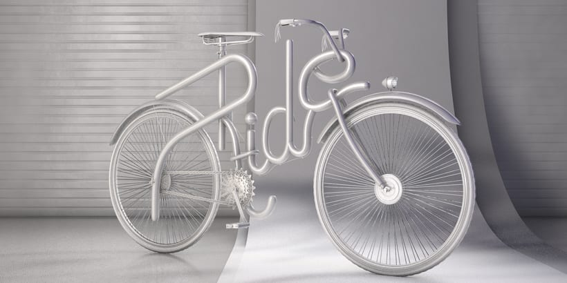 Cinema 4D Bike Lettering 1