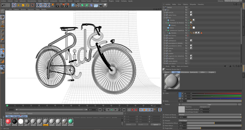 Cinema 4D Bike Lettering 2