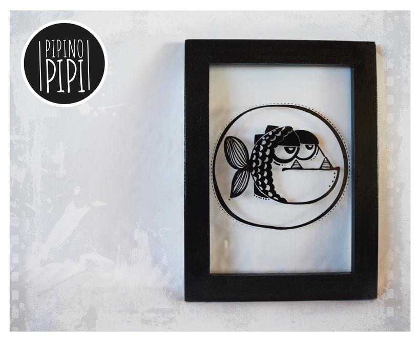 Serigrafía e Ilustración para PIPINO PIPI; Arte para los mas chiquitos -1