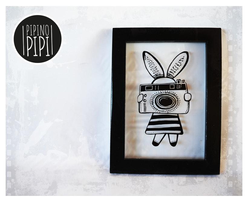 Serigrafía e Ilustración para PIPINO PIPI; Arte para los mas chiquitos 0