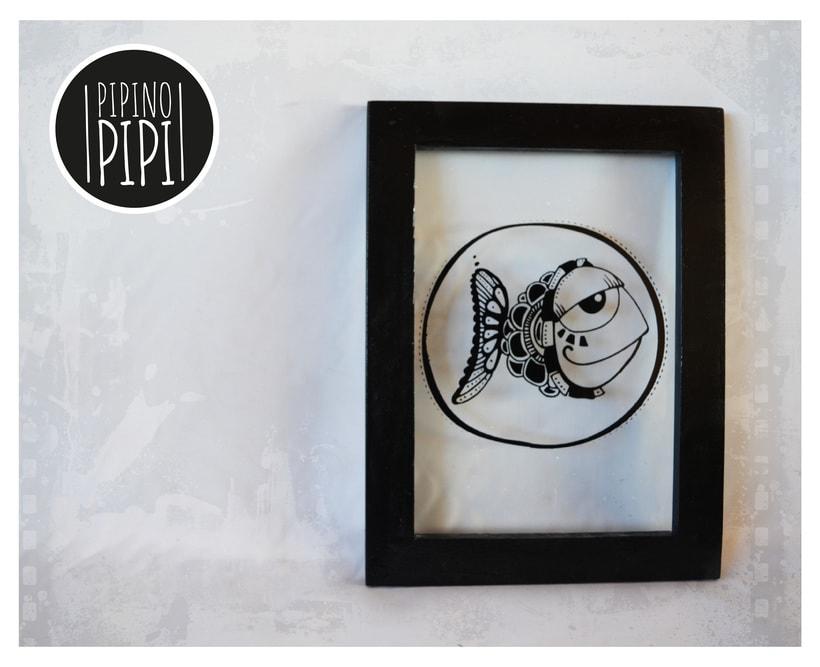Serigrafía e Ilustración para PIPINO PIPI; Arte para los mas chiquitos 2