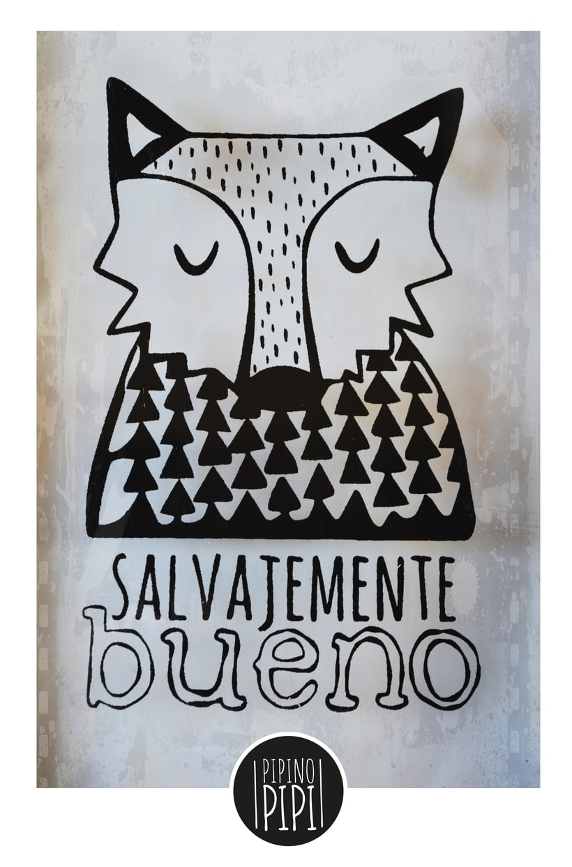 Serigrafía e Ilustración para PIPINO PIPI; Arte para los mas chiquitos 3