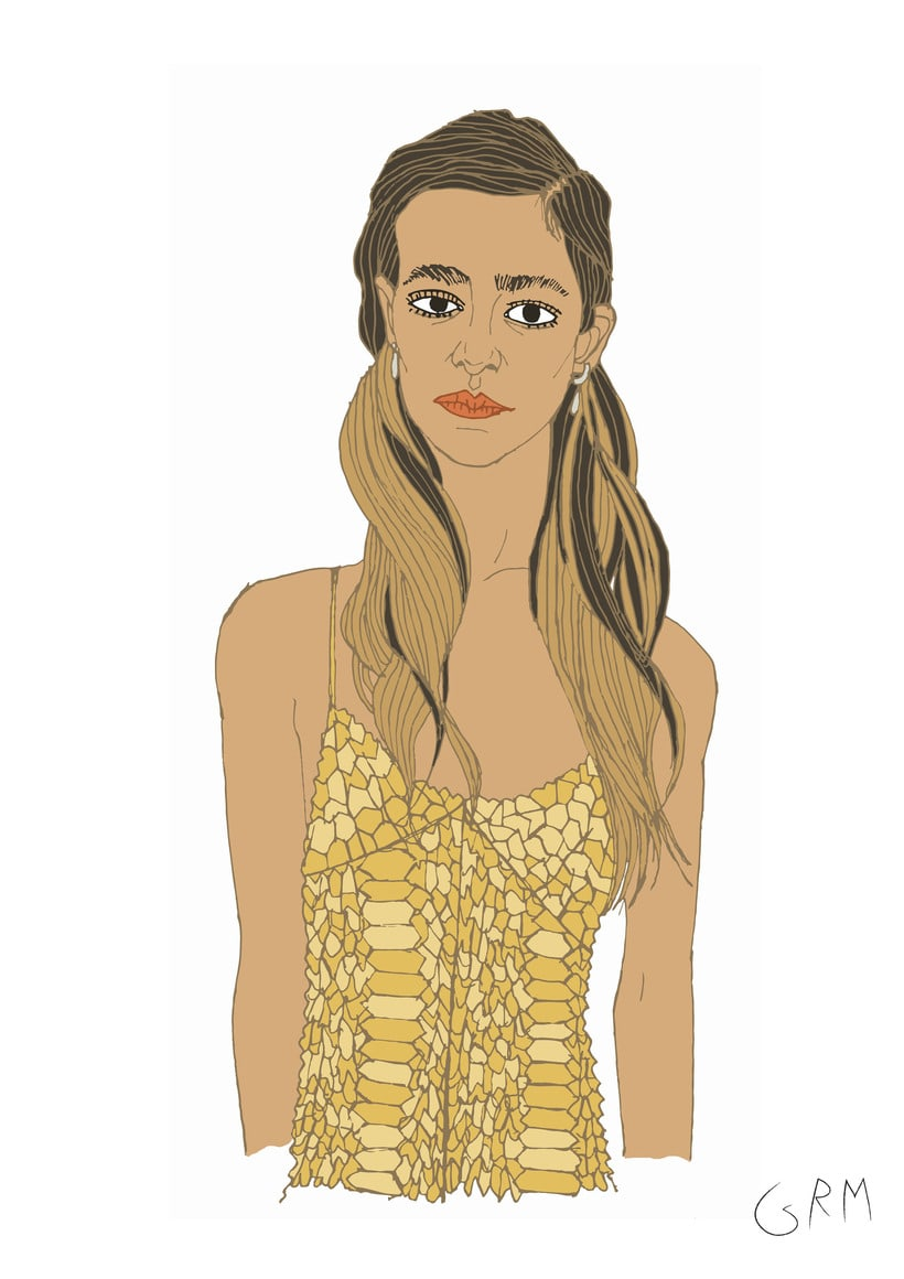 """Colaboración online con la revista de moda y tendencias   """" VANIDAD """" en Abril de 2017  con 6 Ilustraciones                www.vanidad.es/moda/nuevas-caras-moda-ss2017 4"""