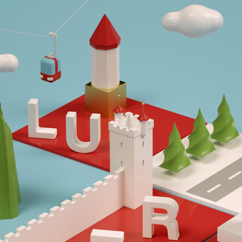 Dirección de Arte con Cinema 4D - Berna y Lucerna: ciudades suizas. 3