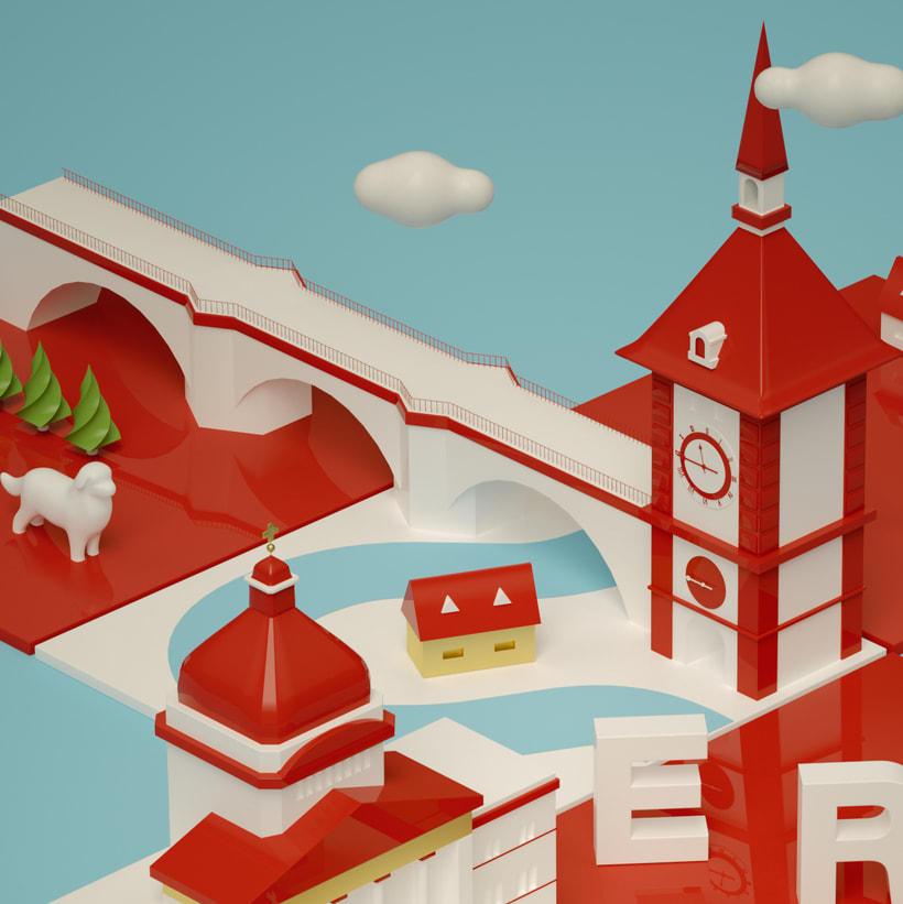 Dirección de Arte con Cinema 4D - Berna y Lucerna: ciudades suizas. 0