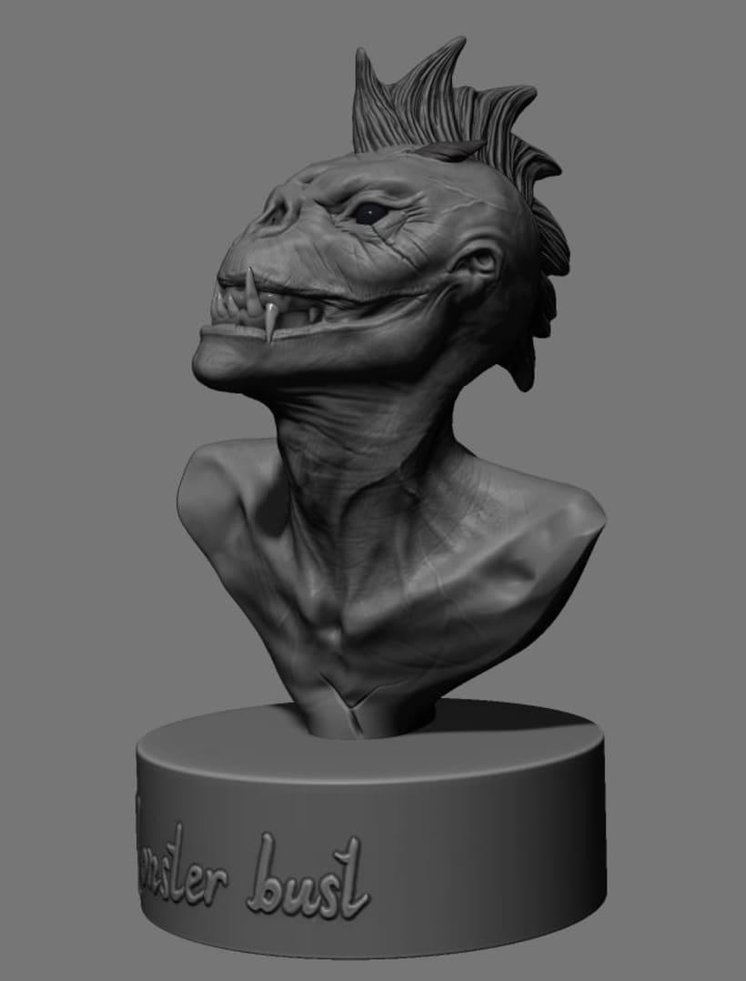 Criatura modelada en Zbrush para 3d printing.  11