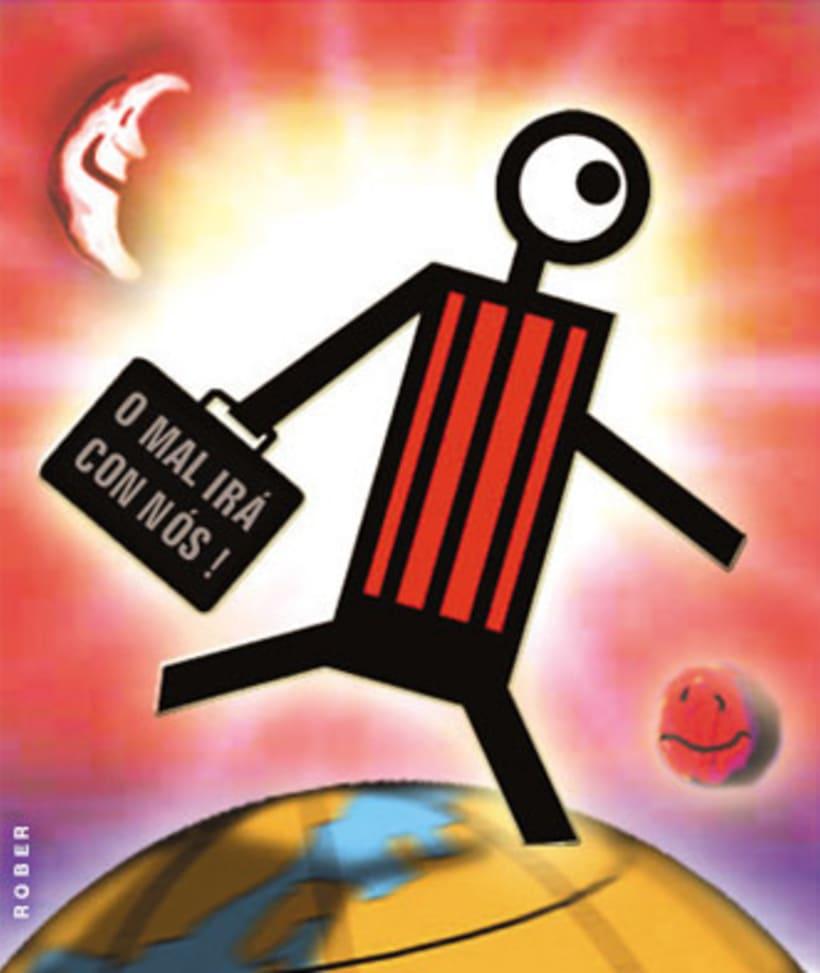Ilustraciones de artículos de prensa para La Voz de Galicia. 37