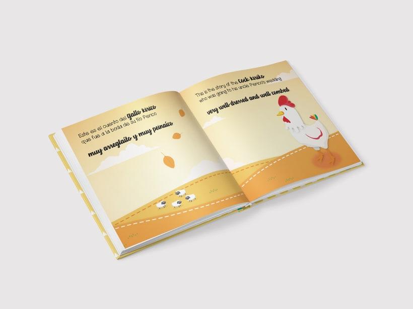 "Libro infantil ""El gallo Kirico"" 1"