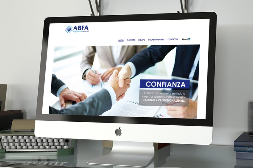 """Diseño Web """"ABFA Programación industrial"""" -1"""