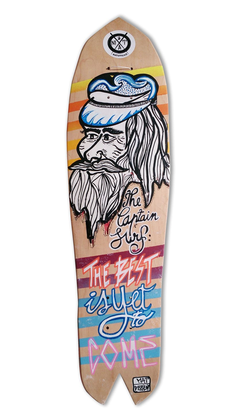 Skateboard • Captain Surf #SkateArt -1