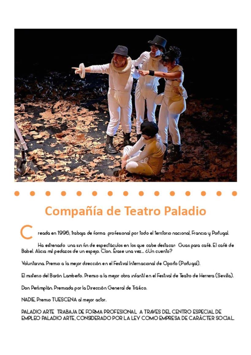 Paladio Arte (Diseño identidad y dossier de teatro) 0