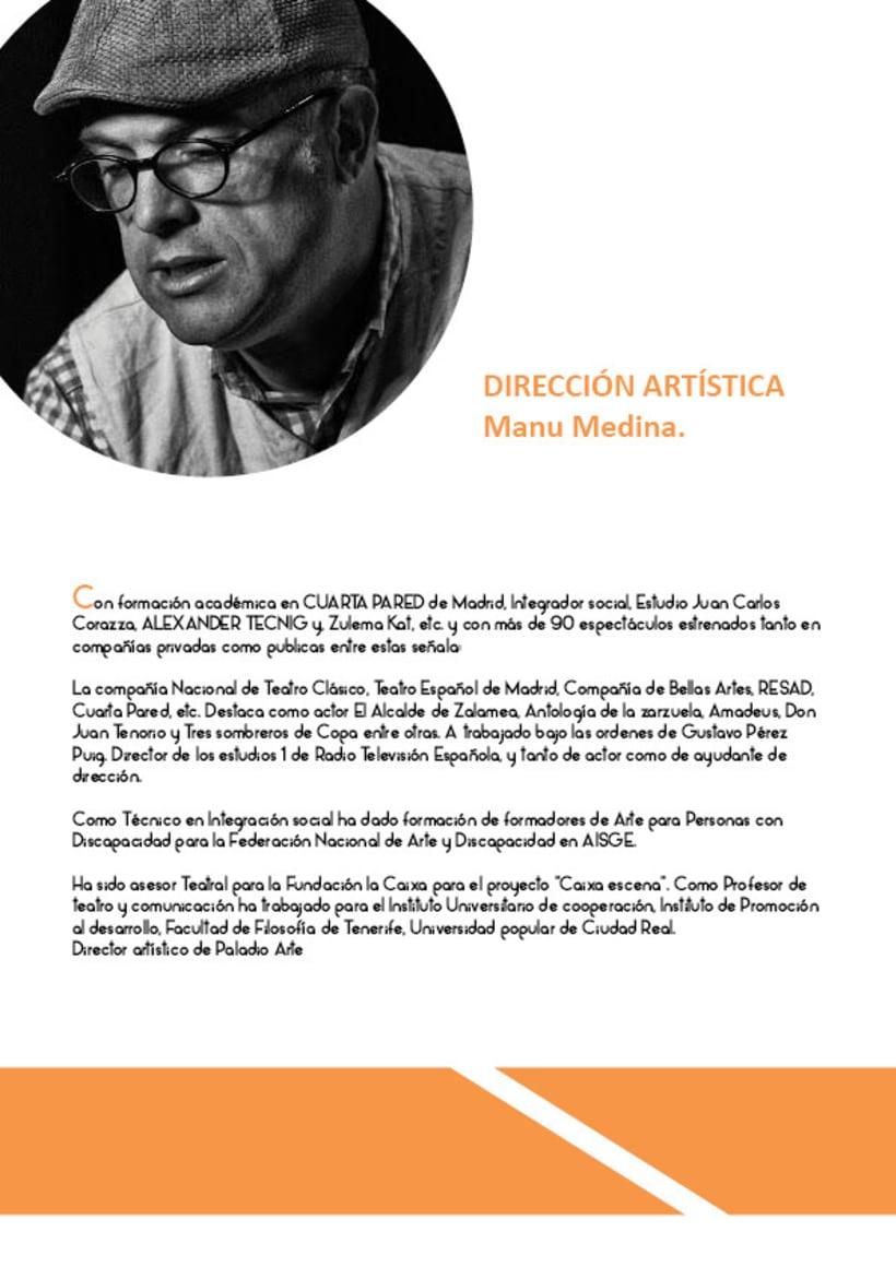 Paladio Arte (Diseño identidad y dossier de teatro) 6