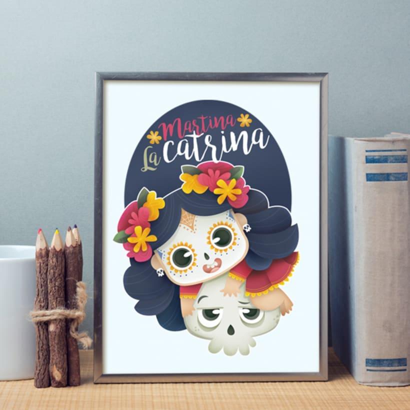 Martina La Catrina. Ilustración infantil 5