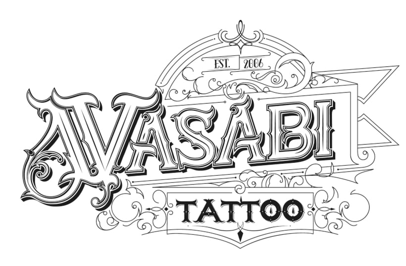 Lettering Wasabi Tattoo v1.0 -1