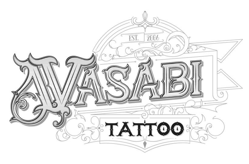 Lettering Wasabi Tattoo v1.0 0