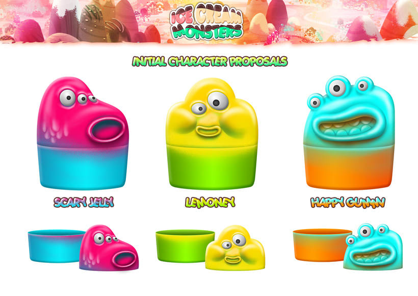 ICE CREAM MONSTERS (Ice cream container proposals) 0