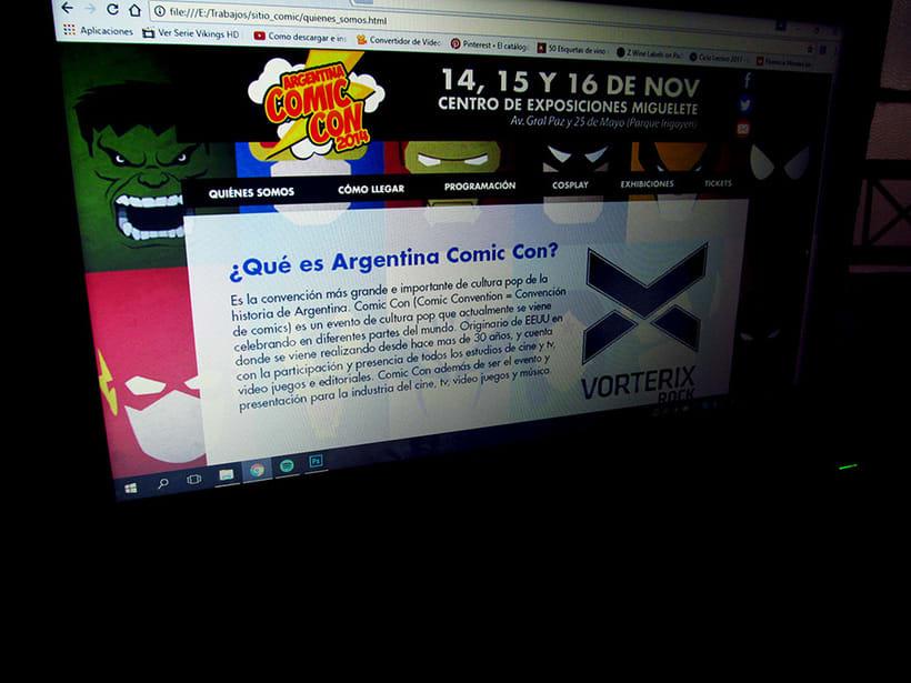 Prototipo Comic Con Arg. | web 2