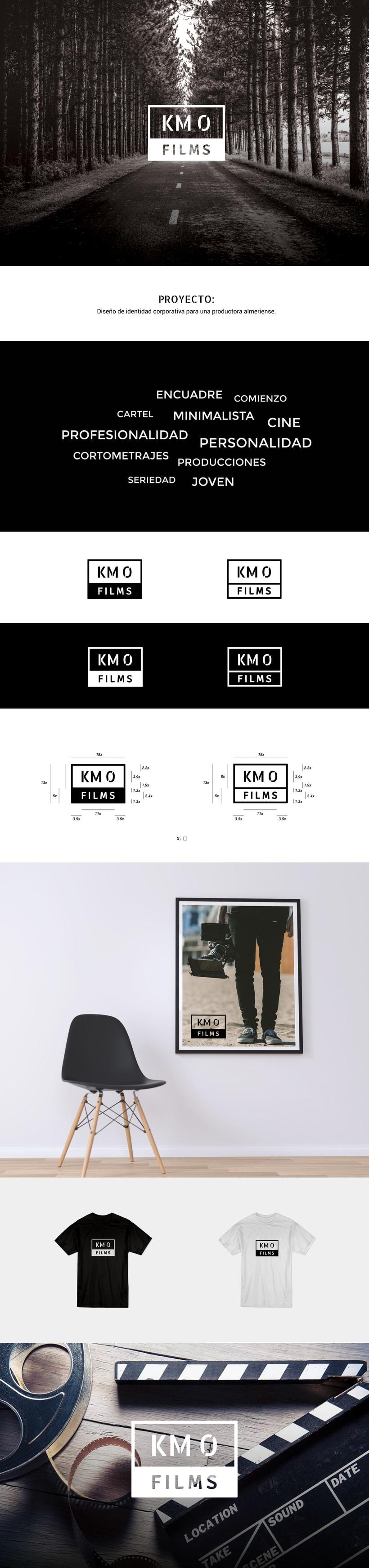 Diseño de identidad corporativa KM0 FILMS 0
