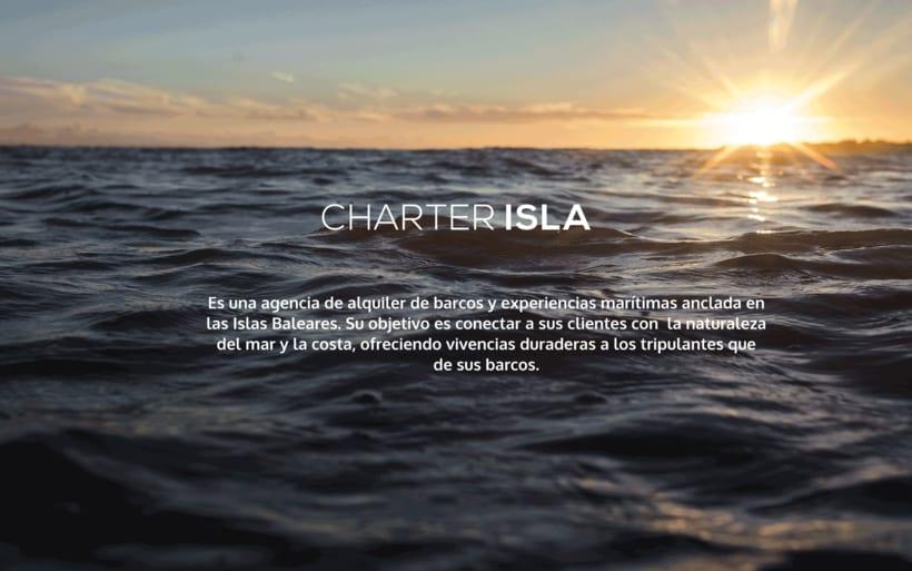 Branding e imagen corporativa - Charter Isla 1